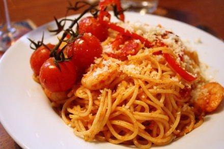 Spaghetti Gambas Tomato Garlic